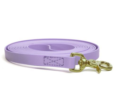 Biothane_tracking_leash_sewn_pastel_purple_brass_trigger_small_web