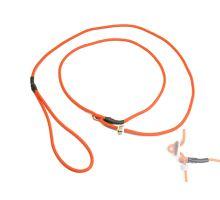 Mystique® Field trial moxon laisse 4mm 130cm neon orange avec corne