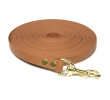 Biothane_tracking_leash_19mm_solid_brass_light_brown_small_web