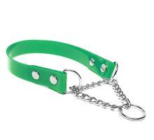Mystique® Biothane collier martingale 25mm vert gold 40-50cm