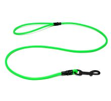 Biothane_round_leash_with_HG_neon_green_black_snap_hook_small_web