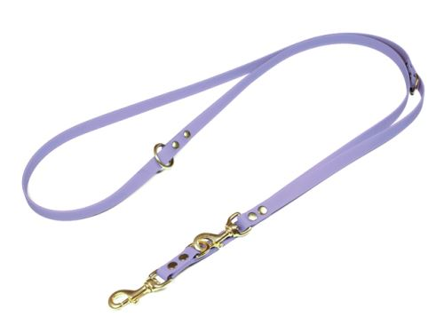 Biothane_adjustable_leash_solid_brass_pastell_purple_small_web