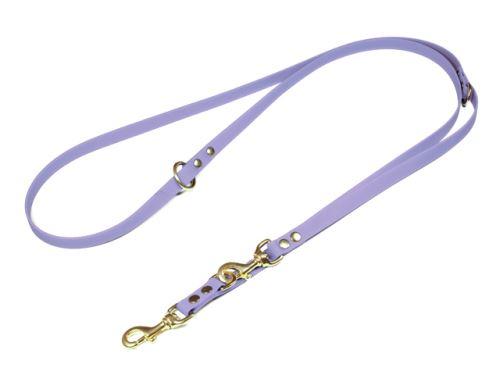 Biothane_adjustable_leash_solid_brass_pastell_purple_small_web