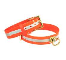 Mystique® Biothane farbiarsky obojok 38mm reflex oranžová gold