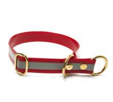 Mystique® Biothane collier pour d'arret 25mm reflex rouge gold 50cm laiton