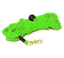 Mystique® Nylonové stopovacie vodítko guľaté 7mm neon zelená 5m bronz. vyp. karabina