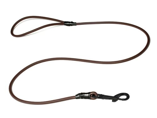 Biothane_round_leash_with_HG_brown_black_snap_hook_small_web