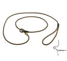 Mystique® Field trial moxon laisse 4mm 130cm vert/rouge avec corne