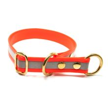 Mystique® Biothane collier pour d'arret 25mm reflex orange gold 50cm laiton