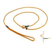 Mystique® Field trial moxon laisse 4mm 130cm orange avec corne