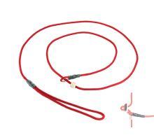 Mystique® Field trial moxon laisse 4mm 130cm rouge avec corne