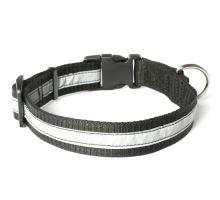 Mystique® Nylon collari profi riflettente 30mm nero 55-65cm