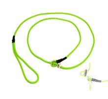 Mystique® Field trial moxon laisse 4mm 130cm neon vert avec corne