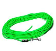 Mystique® Biothane stopovacie vodítko 8mm neon zelená 7,5m s rúčkou