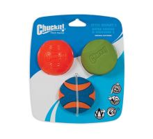 Chuckit Medley Medium - Set Strato, Erratic, Squeaker 6,5cm