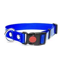 Mystique® Biothane collari safety click 19mm blu gold 40-50cm