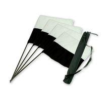 "Mystique® ""Marking flag"" set čierno/biely 4ks + taška"