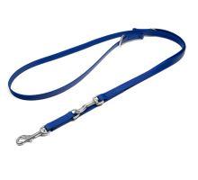 Mystique® Biothane laisses réglable 16mm bleu 200cm inoxydable mousqueton couture