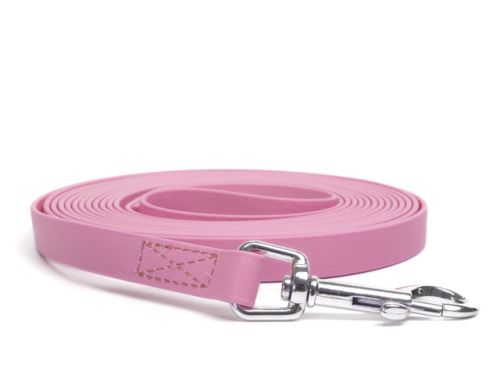 Biothane_tracking_leash_sewn_pastel_pink_snap_hook_small_web