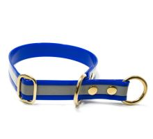 Mystique® Biothane collier pour d'arret 25mm reflex bleu gold 50cm laiton