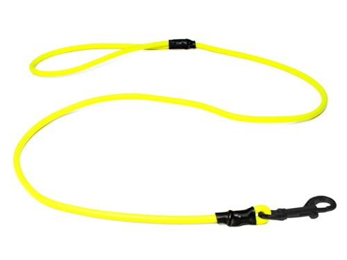 Biothane_round_leash_with_HG_neon_yellow_black_snap_hook_small_web