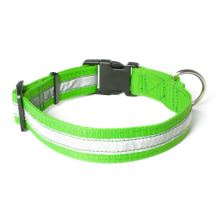Mystique® Nylon collari profi riflettente 30mm neon verde 50-60cm